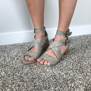 JG Washed Gray Sandals